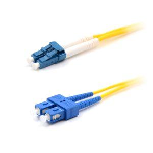 CCD LC-SC Single Mode OS2 Duplex Fibre Optic Patch Cable 1m