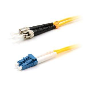 CCD LC-ST Multimode OM1 Duplex Fibre Optic Patch Cable 1m