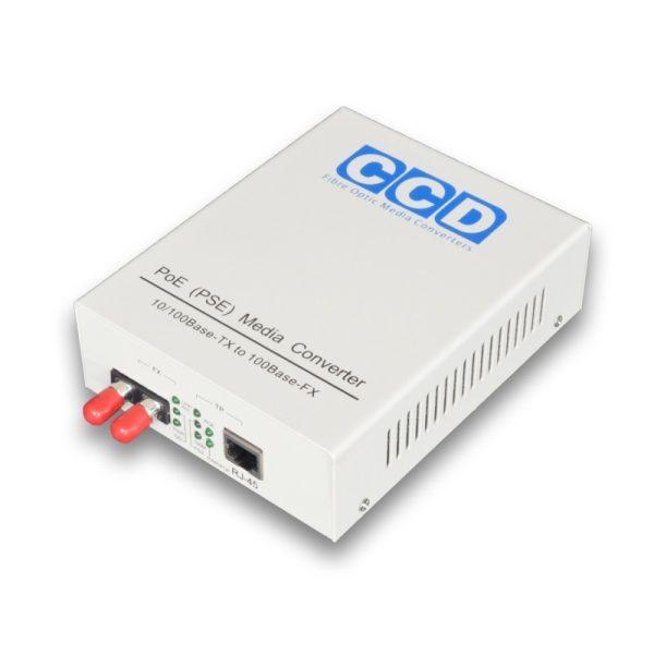 CCD-POE-2100-ST 10/100Mbps Single Mode 40km Media Converter