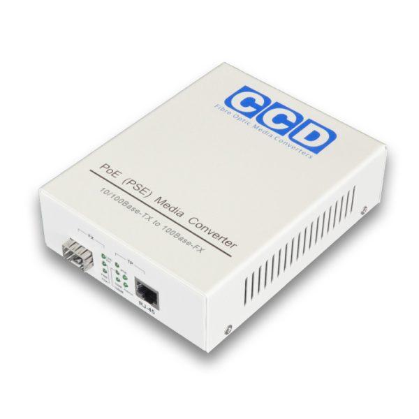 CCD-POE-2100-SFP-LC 10/100Mbps Single Mode 80km Media Converter