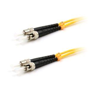 CCD ST-ST Multimode OM3 Duplex Fibre Optic Patch Cable 0.5m